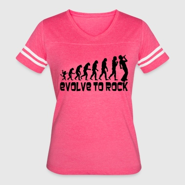 Evolve to Rock [1] Women's Vintage Sports T-shirt - Women's Vintage Sport T-Shirt