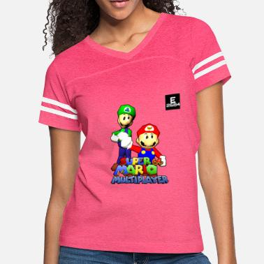 Multiplayer Super Mario 64 Multiplayer | Epicness & Arcani - Women's Vintage Sport T-Shirt