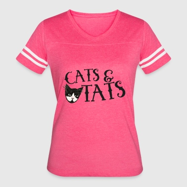 Cats and Tats - Women's Vintage Sport T-Shirt