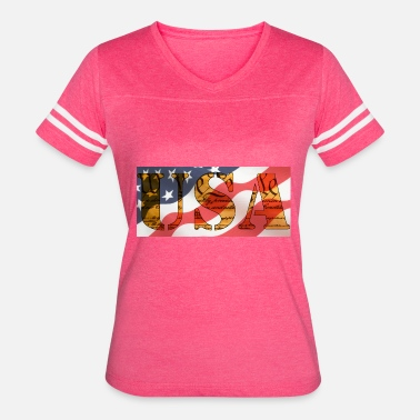 Constitution Scroll USA Flag and Constitution Logo - Women's Vintage Sport T-Shirt