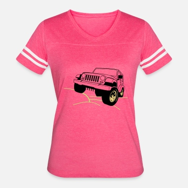 Muscle Jeep Jeep - Women's Vintage Sport T-Shirt