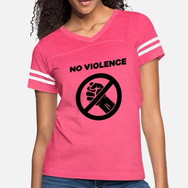 Potency No violence - clenched fist crossed out sign - Women's Vintage Sport T-Shirt