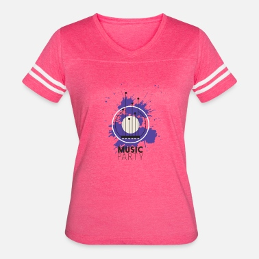 Colorful Party Music Music party - Women's Vintage Sport T-Shirt
