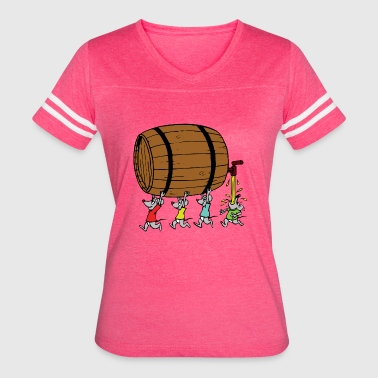 Mice With Barrel - Women's Vintage Sport T-Shirt