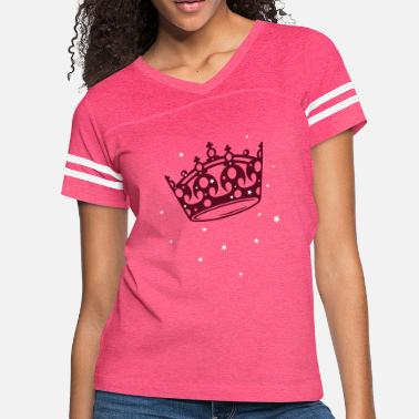Crown Princess, Queen Crown with stars. - Women's Vintage Sport T-Shirt