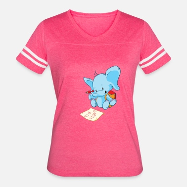 Elephant Drawing Cute Elephant Drawing Pictures - Women's Vintage Sport T-Shirt