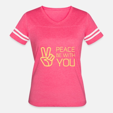 Christian Quotes Christian,Bible Quote,peace be with you - Women's Vintage Sport T-Shirt