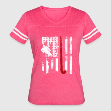 Hockey Flag Clothing Field Hockey Flag Shirt - Women's Vintage Sport T-Shirt