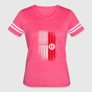 Tunisian American Flag - Women's Vintage Sport T-Shirt