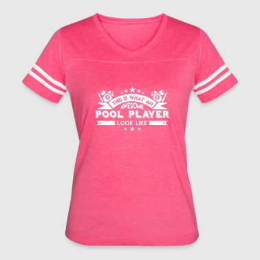 Awesome Pool Player Shirt - Women's Vintage Sport T-Shirt