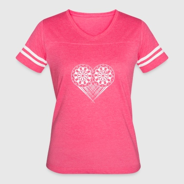 I Heart Darts I love Dart My Heart goes Dart Gifts - Women's Vintage Sport T-Shirt