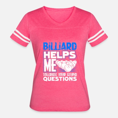 Billiards Apparel For Billiard Helps Me Tee Shirt - Women's Vintage Sport T-Shirt