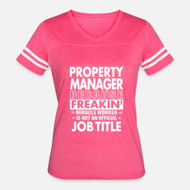 Job Manager Property Manager job t shirt Gift for Manager - Women's Vintage Sport T-Shirt