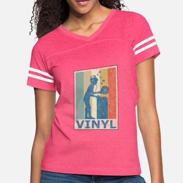 Panic At The Disco Retro Vintage Style Vinyl Turntable DJ Disco Party - Women's Vintage Sport T-Shirt