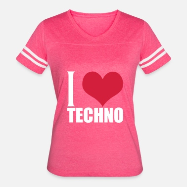 I Love Techno I Love Techno - Women's Vintage Sport T-Shirt
