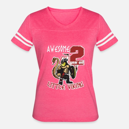 Funny 2 Year Old Little Viking 2nd Birthday Boy Womens Vintage