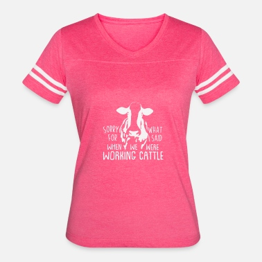 Funny Working Cattle Gift - Farm Animals / Farmers - Women's Vintage Sport T-Shirt