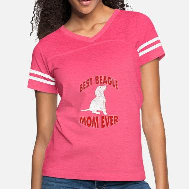 Best Beagle Dog Mom Ever T-Shirt - Women's Vintage Sport T-Shirt