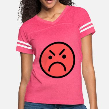 Red Face Smiley Face Red Angry Face - Women's Vintage Sport T-Shirt