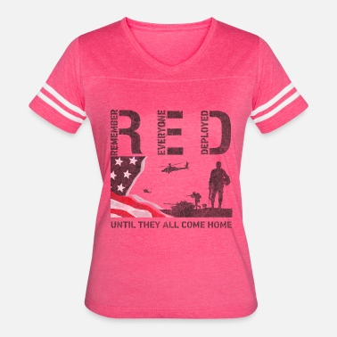 Red Remember Everyone Deployed Red Friday Shirts Remember Everyone Deployed Shirt - Women's Vintage Sport T-Shirt