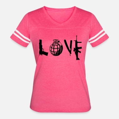Love Guns True Love, Gun Love - Women's Vintage Sport T-Shirt