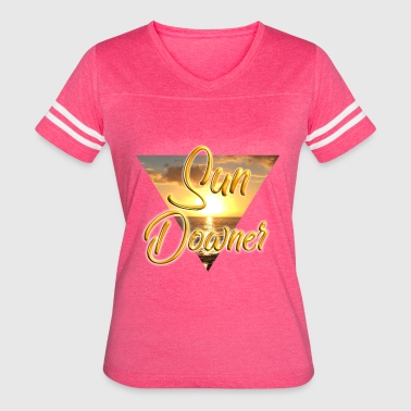 Downer Sun Downer Beach Holiday Sunset - Women's Vintage Sport T-Shirt