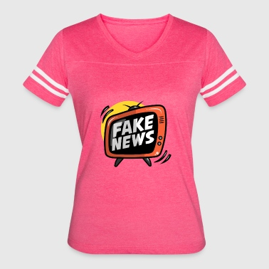 Parody Fake Fake News - Women's Vintage Sport T-Shirt