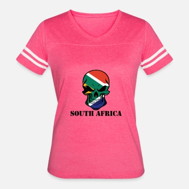 Gift For South Africa South African Flag Skull South Africa - Women's Vintage Sport T-Shirt
