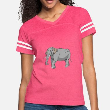 Graphics Vector-design Vector-graphic elephant in vector graphic design - Women's Vintage Sport T-Shirt