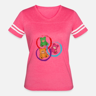 Three Circles three teddybears in circles - Women's Vintage Sport T-Shirt