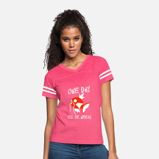 One Night Stand T-Shirts - One Day I ll Be Great - Women's Vintage Sport T-Shirt vintage pink/white