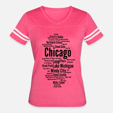 Chicago Windy City Chicago (Windy City; Illinois, USA) - Women's Vintage Sport T-Shirt