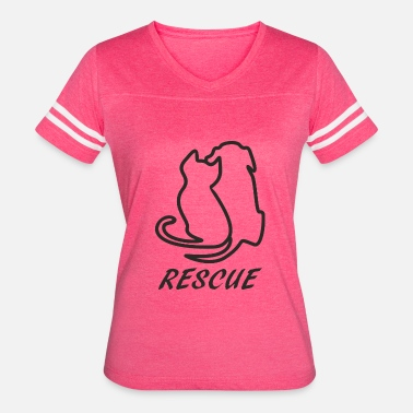Animal Rescue black - Women's Vintage Sport T-Shirt