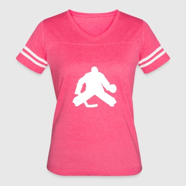 Hockey Goalie Silhouette Hockey Goalie Silhouette - Women's Vintage Sport T-Shirt