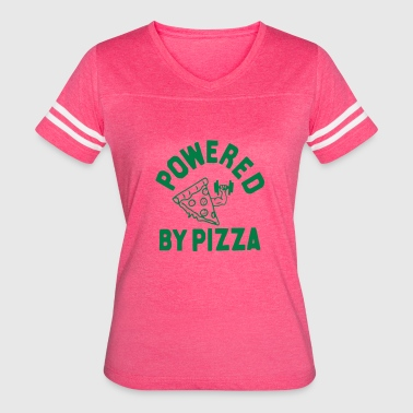 Powered By Pizza Gym Motivation Gift Cool Funny - Women's Vintage Sport T-Shirt