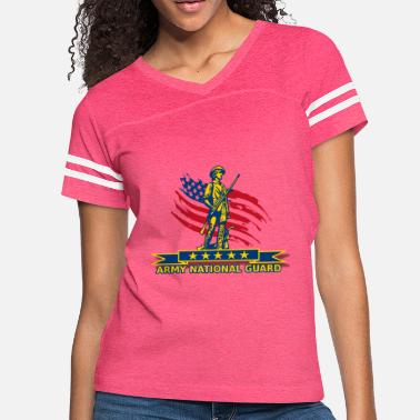 Army National Guard ARMY National Guard Proudly - Women's Vintage Sport T-Shirt