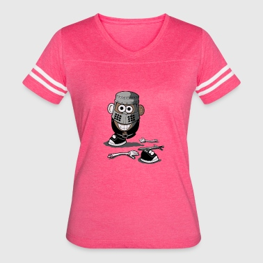 MR POTATO BLACK KNIGHT - Women's Vintage Sport T-Shirt