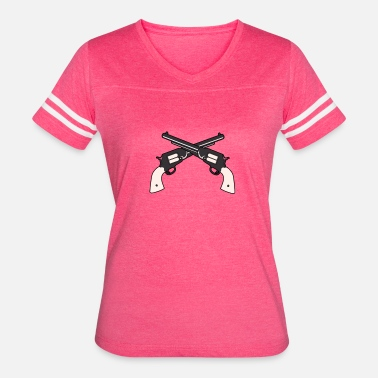 Crossed Guns Double Cross Guns - Women's Vintage Sport T-Shirt