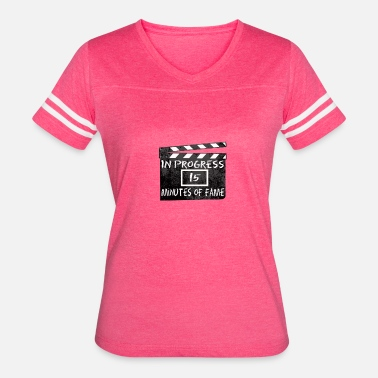 Clapper Board 15 Minutes Of Fame - Women's Vintage Sport T-Shirt