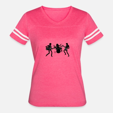 Silhouette Rock Music Rock band Silhouette - Women's Vintage Sport T-Shirt