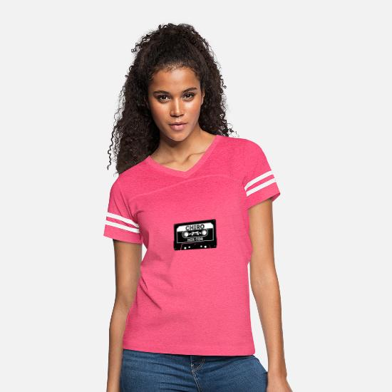 Atlas T-Shirts - Chiropractic Mixer Mix Tape - Women's Vintage Sport T-Shirt vintage pink/white