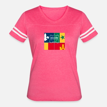 Creole Creole Woman Louisiana Cultural Flag - Women's Vintage Sport T-Shirt