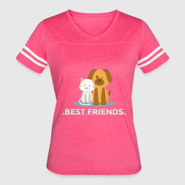 Best Friend Football best friends - Women's Vintage Sport T-Shirt
