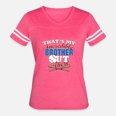 Brothers Play Baseball Funny Baseball Brother or Sister Gift - Women's Vintage Sport T-Shirt