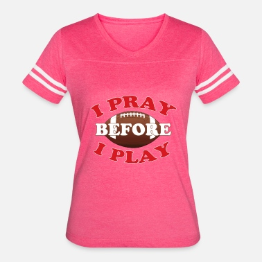 Christian Girl Religious Football Player Christian Gift - Women's Vintage Sport T-Shirt