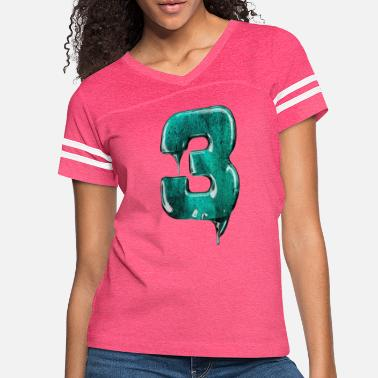 Jersey Number Jersey number 3 - Women's Vintage Sport T-Shirt