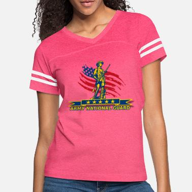 National ARMY National Guard Proudly - Women's Vintage Sport T-Shirt
