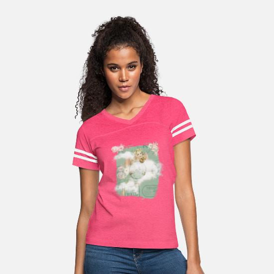Angelwings T-Shirts - Angel DeSiGn - Women's Vintage Sport T-Shirt vintage pink/white