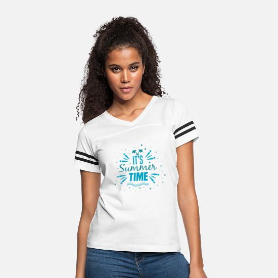 Travel T-Shirts - It's Summer Time For Holidays and Vacation - Women's Vintage Sport T-Shirt white/black