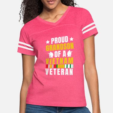 Hero Veterans Day - Proud Grandson of a Vietnam Veteran - Women's Vintage Sport T-Shirt